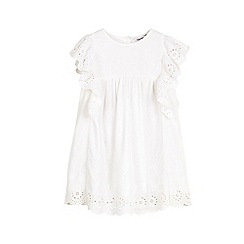 Outfit Kids - Girls' white broderie angle sleeve dress