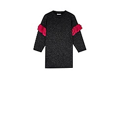 Outfit Kids - Girls' black contrast frill sequin dress