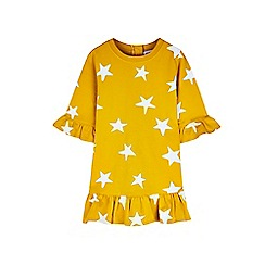 Outfit Kids - Girls' yellow star sweat dress