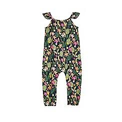 Outfit Kids - Girls' green jungle jersey jumpsuit