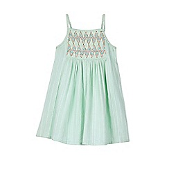 Outfit Kids - Girls' Aqua Textured Midi Dress
