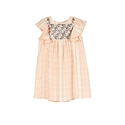 Outfit Kids - Girls' geometric frill font dress