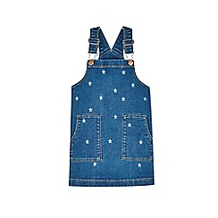 Outfit Kids - Girls' blue denim star print pinafore dress