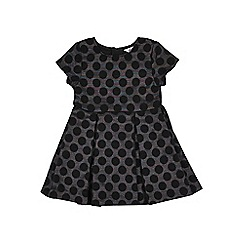 Outfit Kids - Girls' black jacquard dress