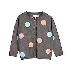 Outfit Kids - Girls' washed black spotty cardigan