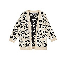 Outfit Kids - Girls' brown leopard print cardigan