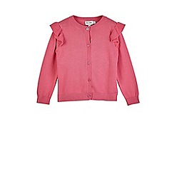Outfit Kids - Girls' pink knitted cardigan