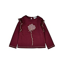 Outfit Kids - Girls' red sequin flower t-shirt