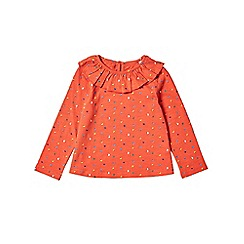 Outfit Kids - Girls' red long sleeve ruffle floral top