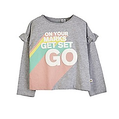 Outfit Kids - Girls' grey marl slogan t-shirt