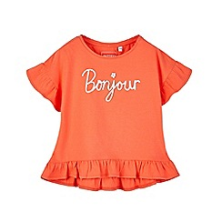 Outfit Kids - Girls' red 'bonjour' slogan t-shirt