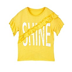 Outfit Kids - Girls' Yellow 'Shine' Slogan Jersey Top