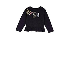 Outfit Kids - Girls' black embroidered t-shirt