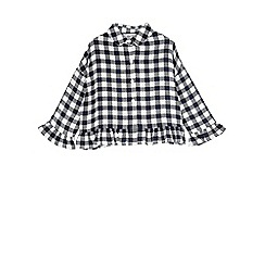 Outfit Kids - Girls' blue checked shirt