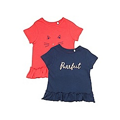 Outfit Kids - 2 pack girls' black 'Perfect' t-shirts