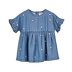 Outfit Kids - Girls' Blue Chambray Embroidered Top