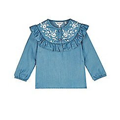 Outfit Kids - Girls' blue floral ruffle top