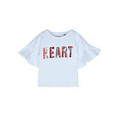 Outfit Kids - Girls' white heart frill t-shirt