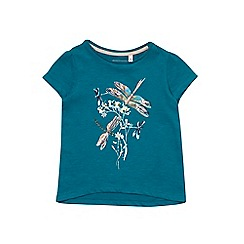 Outfit Kids - Girls' short sleeve blue dragonfly top