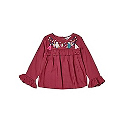 Outfit Kids - Girls' purple embroidered top