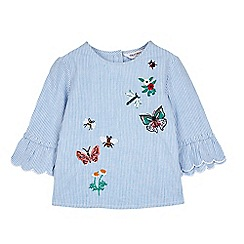 Outfit Kids - Girls' Blue Embroidered Top