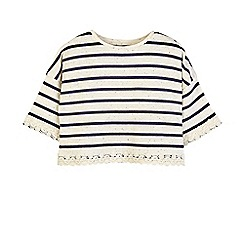 Outfit Kids - Girls' navy striped t-shirt