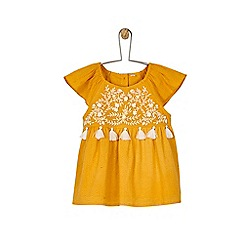 Outfit Kids - Girls' yellow embroidered top