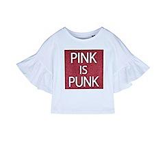Outfit Kids - Girls' white punk slogan t-shirt