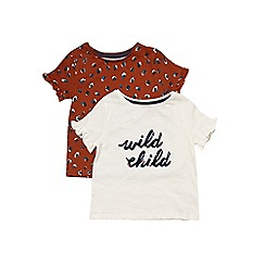 Outfit Kids - 2 pack girls' short sleeve 'Wild Child' tops