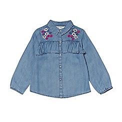 Outfit Kids - Girls' blue denim shirt