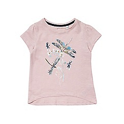 Outfit Kids - Girls' short sleeve pink  dragonfly top