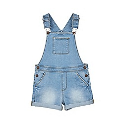 Outfit Kids - Girls' blue dungaree shorts