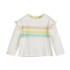 Outfit Kids - 2 pack girl's white striped t-shirts