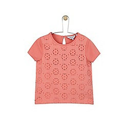 Outfit Kids - Girls' pink broderie mix t-shirt