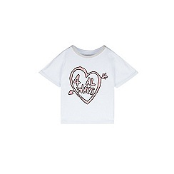 Outfit Kids - Girls' white short sleeve printed t-shirt