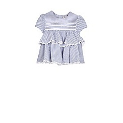 Outfit Kids - Girls' blue ticking striped top