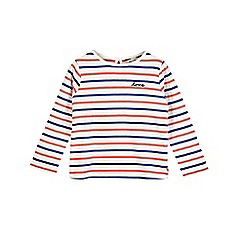 Outfit Kids - Girls' white striped slogan top