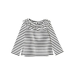 Outfit Kids - Girls' black long sleeve ruffle stripe top