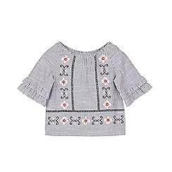 Outfit Kids - Girls' black striped woven top