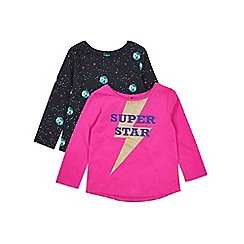 Outfit Kids - 2 pack girls' pink and navy tops