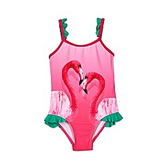 Outfit Kids - Girls  Pink Flamingo Swimsuit 08d69e231