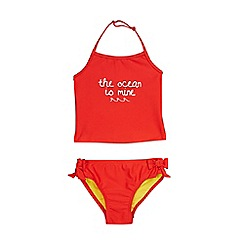 Outfit Kids - Girls' Red Slogan Tankini Top