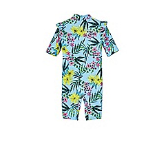 Outfit Kids - Girls' blue floral rash vest