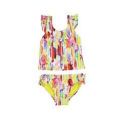 Outfit Kids - Girls' yellow brush tankini top