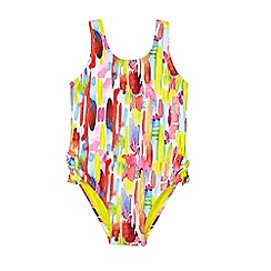 Outfit Kids - Girls' Yellow Brush Swimsuit