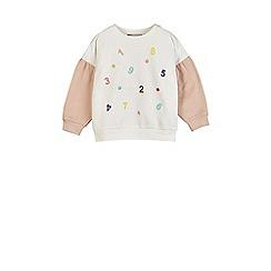 Outfit Kids - Girls' white number print sweatshirt