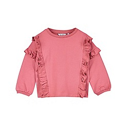 Outfit Kids - Girls' pink double ruffle sweat top