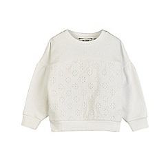 Outfit Kids - Girls' ivory white broderie sleeves sweatshirt