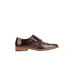 Burton - Burgundy leather formal shoes