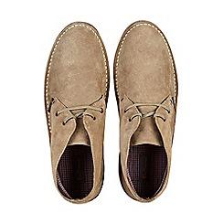 Burton - Sand suede desert boots